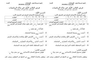الفرض الثلاثي الأول ثانية ثانوي آداب2 2014-2015.docx