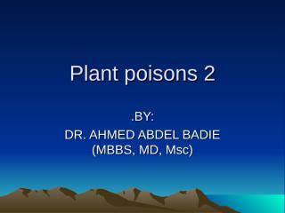 plant poisons 2.ppt