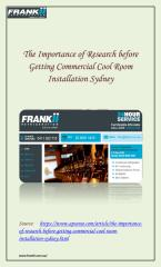 Commercial Cool Room Installation in Sydney.pdf