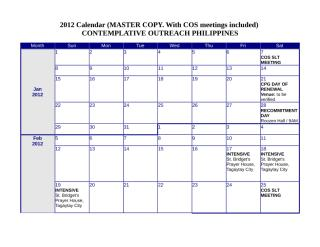 2012 Weekly Calendar Terly Revised.doc