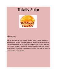 Totally Solar - Portable Solar Power Generator.docx