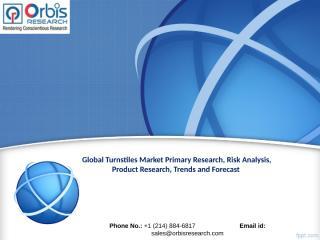 Global Turnstiles Market Outlook and Forecast.ppt