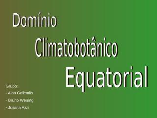 climatobotanico equatorial.ppt