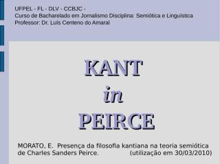 kant in peirce.ppt
